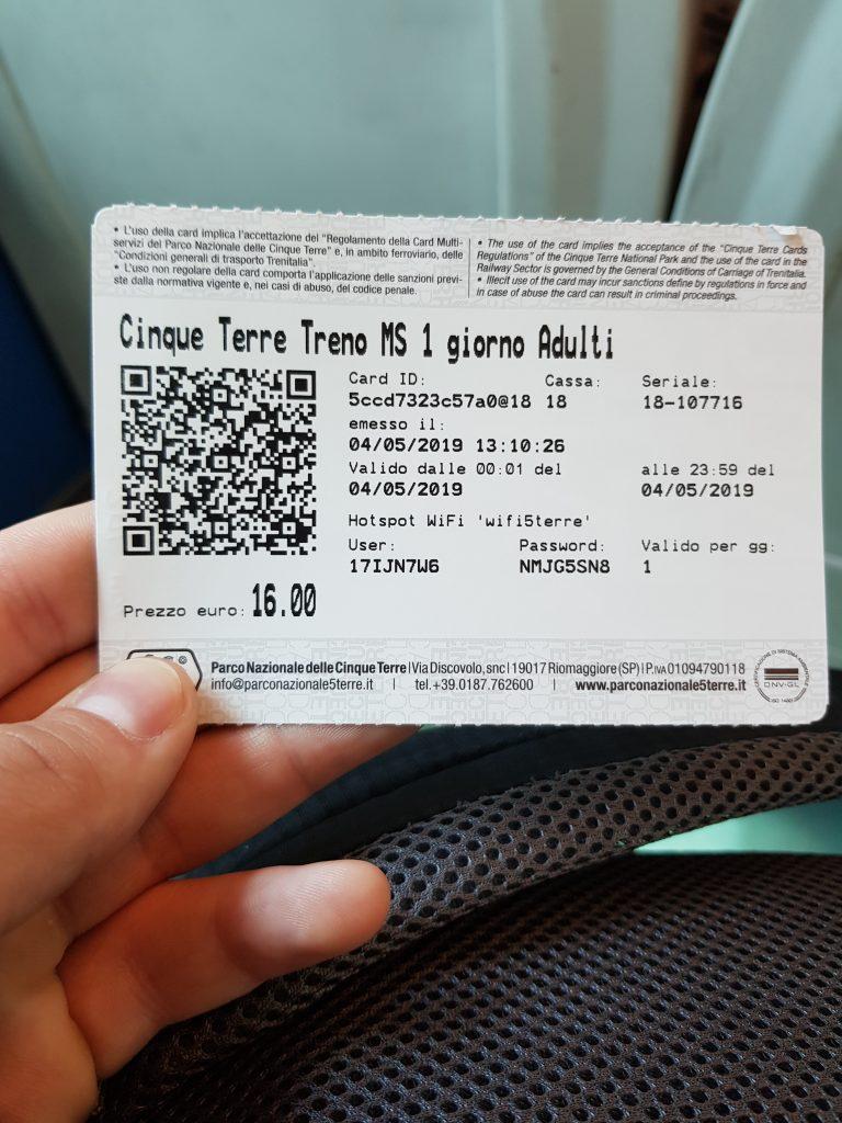Cinque Terre Karta za Voz - Photo: Mogluni